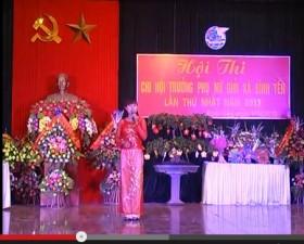 Hội thi Chi hội trưởng phụ nữ giỏi xã Bình Yên năm 2013