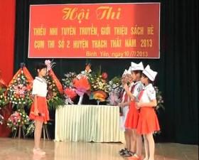 Hội thi tuyên truyền sách hè tại cụm số 2 huyện Thạch Thất