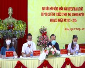 Các Tổ đại biểu HĐND huyện Thạch Thất khóa XX tiếp xúc cử tri trước Kỳ họp thứ 2