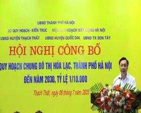 Hội nghị công bố Quy hoạch chung khu đô thị Hòa Lạc