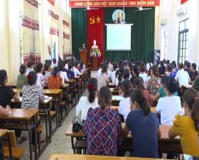 Hội Liên hiệp Phụ nữ huyện: Bồi dưỡng nghiệp vụ công tác Hội cho 150 cán bộ Hội cơ sở
