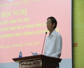 Hội Chữ thập đỏ huyện Thạch Thất sơ kết công tác Hội 6 tháng đầu năm 2020