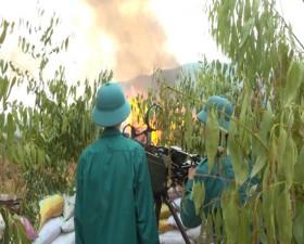 Xã Tiến Xuân diễn tập chiến đấu phòng thủ năm 2020