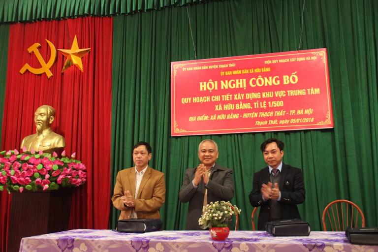Hội nghị công bố quy hoạch chi tiết xây dựng khu vực Trung tâm xã Hữu Bằng, tỷ lệ 1/500
