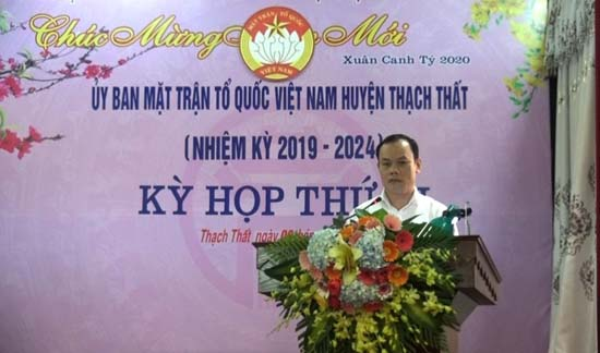 Ủy ban MTTQ huyện Thạch Thất tổ chức Kỳ họp thứ III- nhiệm kỳ 2019-2024