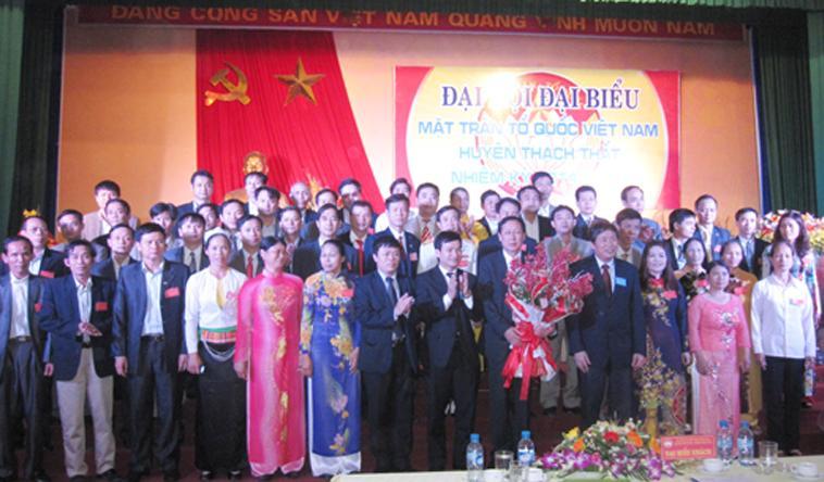 Đại hội đại biểu Mặt trận Tổ quốc Việt Nam huyện Thạch Thất nhiệm kỳ 2014-2019