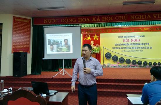 Tuyên truyền phòng chống bạo lực gia đình và xâm hại trẻ em trong vùng đồng bào dân tộc thiểu số và miền núi huyện Thạch Thất năm 2020
