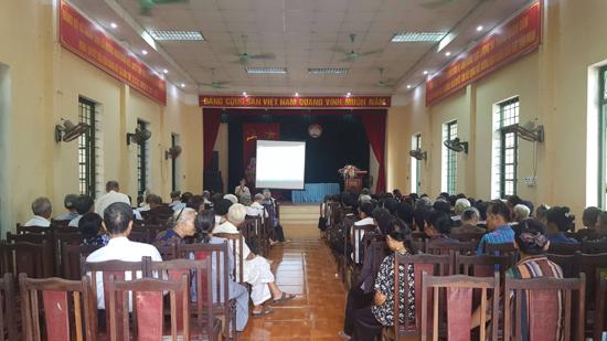 Xã Hương Ngải truyền thông mô hình Câu lạc bộ chăm sóc sức khỏe Người cao tuổi tại cộng đồng