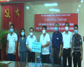 Làng Phú Ổ- xã Bình Phú ủng hộ công tác phòng, chống dịch Covid 19
