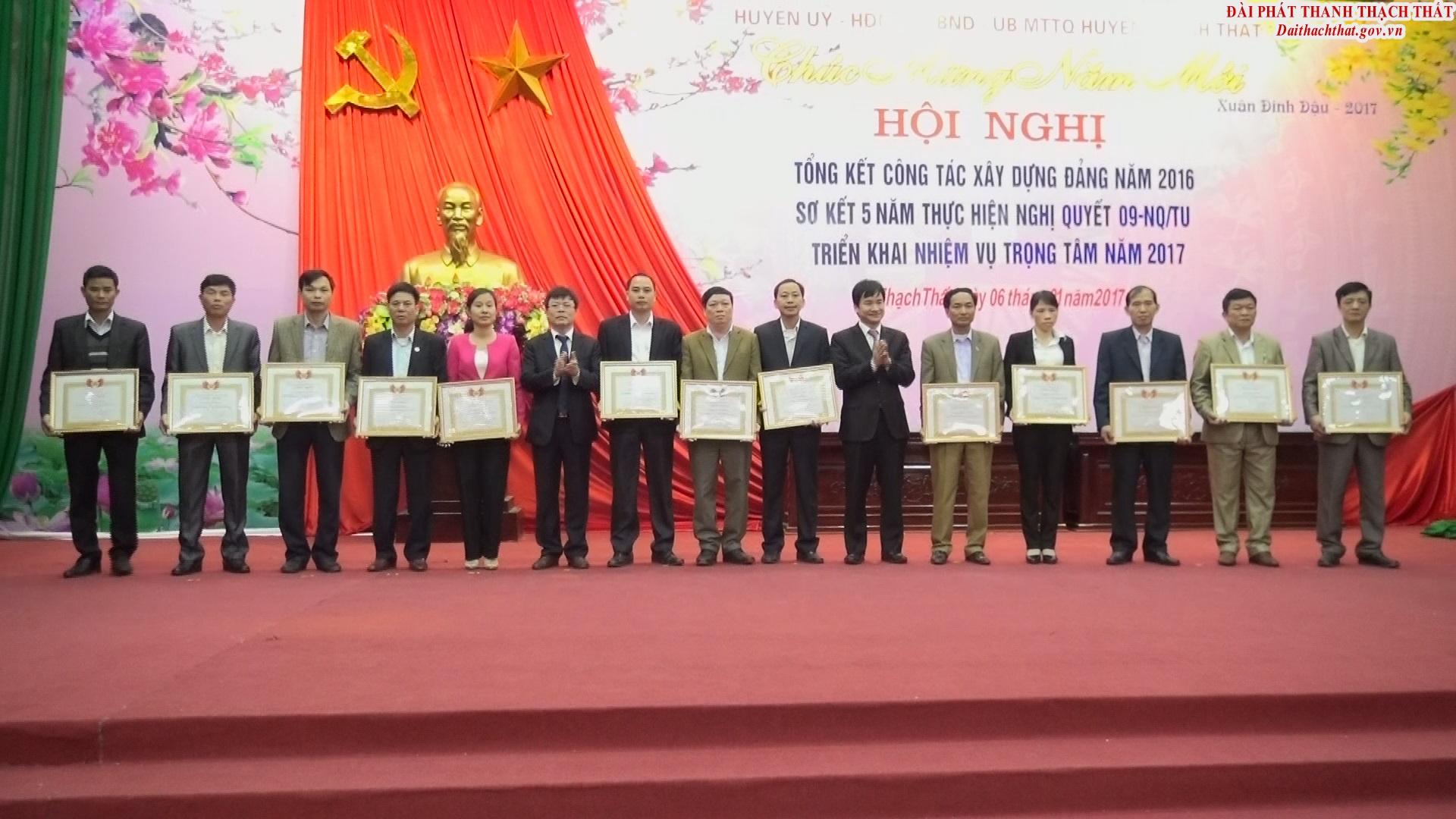 Thạch Thất tổng kết công tác xây dựng Đảng năm 2016.