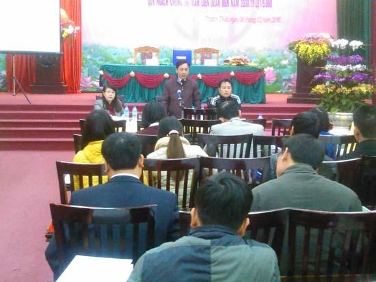 Hội nghị công bố quy hoạch chung xây dựng huyện Thạch Thất đến năm 2030, tỷ lệ 1/10.000, quy hoạch chung thị trấn Liên Quan đến năm 2030, tỷ lệ 1/5.000