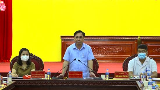 Thạch Thất gặp mặt giảng viên, sinh viên trường Cao đẳng Y tế Hải Phòng hỗ trợ huyện lấy mẫu xét nghiệm