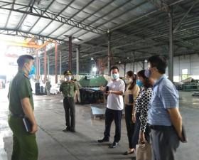 Thạch Thất: Kiểm tra đột xuất công tác phòng, chống dịch Covid- 19 tại các xã, thị trấn
