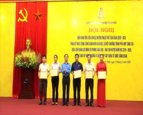 Hội nghị điển hình tiên tiến công nhân, viên chức, lao động huyện Thạch Thất giai đoạn 2020-2025 và tổng kết hoạt động Công đoàn khối Giáo dục