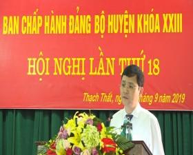 Hội nghị lần thứ 18 Ban chấp hành Đảng bộ huyện Thạch Thất khóa XXIII