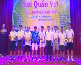 Giải quần vợt các Câu lạc bộ huyện Thạch Thất  năm 2019