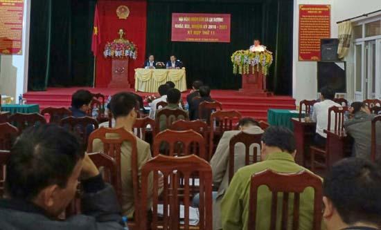 Kỳ họp thứ 11- HĐND xã Lại Thượng