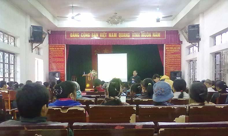 Trạm Bảo vệ thực vật huyện tập huấn kỹ thuật sản xuất nông nghiệp tại xã Tân Xã
