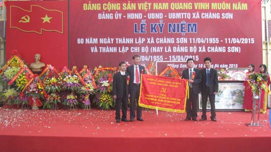 Xã Chàng Sơn kỷ niệm 60 năm thành lập xã, 60 năm thành lập Chi bộ nay là Đảng bộ xã