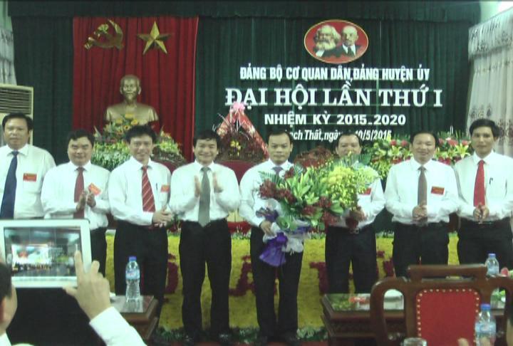Đại hội Đảng bộ cơ quan Dân, Đảng Huyện ủy lần thứ nhất nhiệm kỳ 2015- 2020.