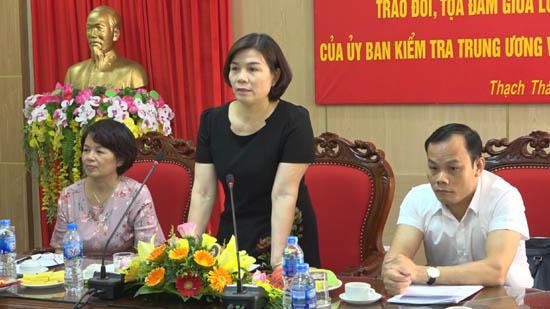 Hội nghị trao đổi, tọa đàm giữa lớp Kiểm tra viên của Ủy ban Kiểm tra Trung ương với Huyện ủy Thạch Thất