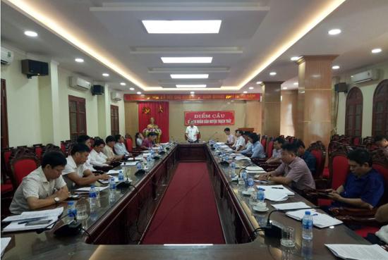 Ban đại diện Hội đồng quản trị  Ngân hàng CSXH huyện  họp đánh giá kết quả quý III năm 2019