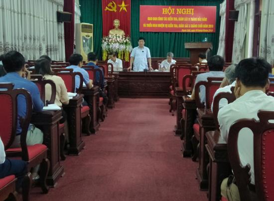 Ủy ban Kiểm tra huyện ủy Thạch Thất giao ban công tác kiểm tra, giám sát 9 tháng đầu năm