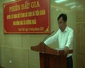 Phiên đấu giá quyền sử dụng đất ở tại xã Tiến Xuân và Hương Ngải