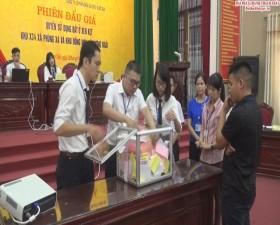 Thạch Thất tổ chức phiên đấu giá đất tại xã Phùng Xá và xã Hương Ngải