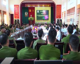 Hội nghị sơ kết bố trí Công an chính quy đảm nhiệm các chức danh Công an xã trên địa bàn huyện Thạch Thất