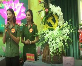 Hội thi cắm hoa nghệ thuật của Hội Phụ nữ Cụm thi đua số 7- Công an thành phố Hà Nội