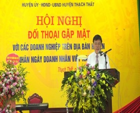 Thạch Thất tổ chức đối thoại, gặp mặt với các doanh nghiệp trên địa bàn huyện