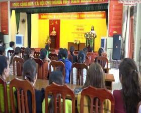 Xã Tiến Xuân ra mắt mô hình Tổ hợp tác Phụ nữ chăn nuôi gà thả đồi