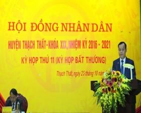 Kỳ họp thứ 11- Hội đồng Nhân dân huyện Thạch Thất
