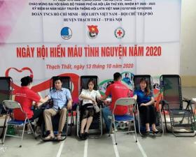 Đoàn thanh niên huyện Thạch Thất tổ chức Ngày hội Hiến máu tình nguyện