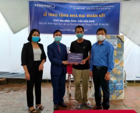 Tập đoàn Phenikaa trao tặng Nhà đại đoàn kết cho hộ nghèo tại xã Đại Đồng và Lại Thượng