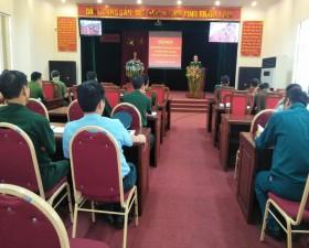 Ban chỉ huy Quân sự huyện giao ban công tác phối hợp hoạt động Tác chiến – Trị an- Dân vận