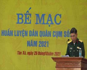 Bế mạc huấn luyện dân quân cụm số 5- năm 2021