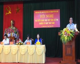Đoàn đại biểu Quốc hội thành phố Hà Nội tiếp xúc cử tri tại xã Lại Thượng- huyện Thạch Thất