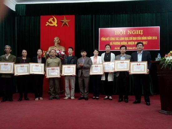 Đại Đồng tổng kết công tác xây dựng Đảng năm 2016.