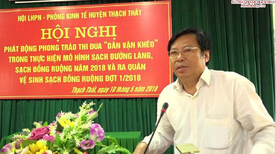 Hội LHPN- Phòng Kinh tế huyện phát động phong trào thi đua dân vận khéo thực hiện mô hình sạch đường làng, sạch đồng ruộng năm 2018
