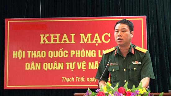 Khai mạc Hội thao quốc phòng lực lượng dân quân tự vệ huyện Thạch Thất năm 2019