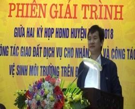 Phiên giải trình giữa 2 kỳ họp HĐND huyện Thạch Thất năm 2018
