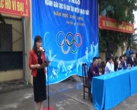 Hội thao ngành Giáo dục và Đào tạo huyện Thạch Thất  năm học 2018- 2019