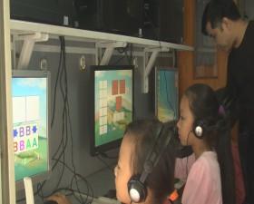 Trung tâm Văn hóa- Thông tin và Thể thao tổ chức chuyến xe thư viện luu động tại Trường Tiểu học xã Bình Yên