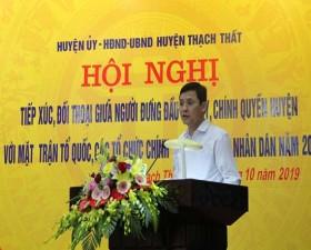 Thạch Thất tổ chức hội nghị đối thoại giữa người đứng đầu cấp ủy, chính quyền với nhân dân