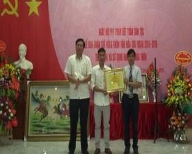 Thôn 1- xã Hạ Bằng đón danh hiệu Thôn văn hóa giai đoạn 2016-2018
