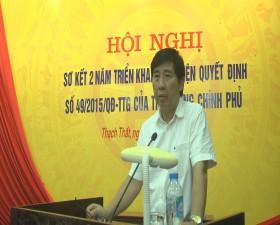 Huyện Thạch Thất sơ kết 2 năm triển khai thực hiện QĐ số 49/2015/QĐ/TTG của Thủ tướng Chính phủ