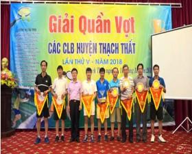 Giải Quần vợt các CLB huyện Thạch Thất lần thứ 5 năm 2018