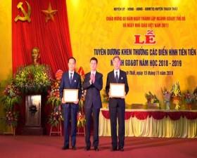 Lễ tuyên dương, khen thưởng các điển hình tiên tiến ngành Giáo dục & đào tạo huyện Thạch Thất, năm học 2018-2019
